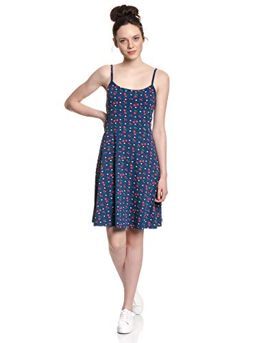 Pussy Deluxe Cat Paws & Cherries Dress Blue Allover, Größe:XL