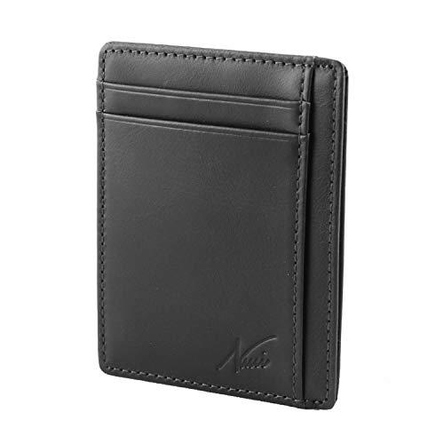 Portafoglio Uomo-Porta Carte Credito-Porta Badge-In Vera Pelle con Protezione...