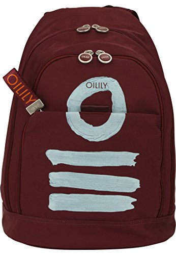 Oilily Fun Nylon Backpack LVZ Burgundy Damen Rucksack (30 x 45 x 21 cm)