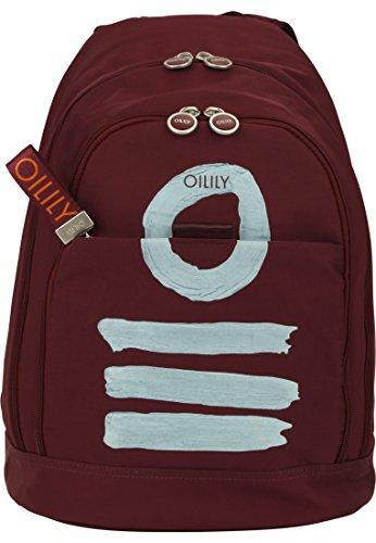 Oilily Fun Nylon Backpack LVZ Burgundy Damen Rucksack (30 x 45 x 21 cm)