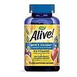 Nature's Way Alive! Men's Complete Gummy Multivitamin, B-Vitamins, Delicious Fruit Flavors, 60 Gummies