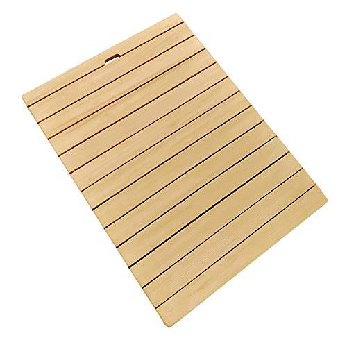 JJSFJH Bambusbodenmatte Dusche Slatted Anti-Rutsch-Textur Struktur Thick Starke Tragfähigkeit, Dusche oder Fußabtreter (Size : 50 * 60CM)