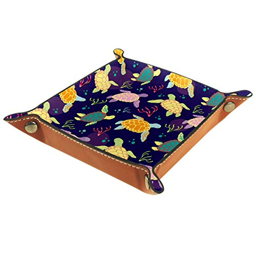 MUMIMI Jewelry Display Storage Box Ring Earrings Jewelry Box Ring Holder Case Colorful Turtle Seaweed