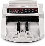 CHUXJ Contatore Contatore del Bill Counterfeit Detection macchina dei soldi Denaro contatore Cash Machine e Bill Detector- con Black Display LCD Conti e rileva contraffazione con UV contraffazione Bil