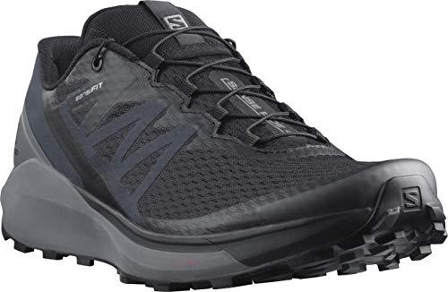 Salomon Men's Sense Ride 26 Trail Running Shoe, Black/Quiet Shade/Ebony, 11