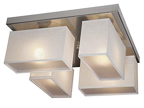 Plafonnier – Design wero Eris-004 H blanc transparent
