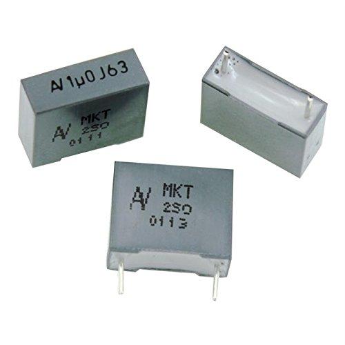 20x MKT-Condensateur rad. 1µF 63V DC ; 10mm ; R60DF4100JB30J ; 1uF