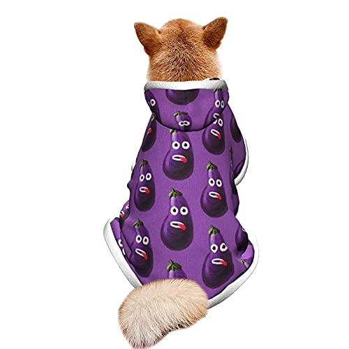 Disfraz de berenjena para mascotas con capucha ajustable para cachorro, traje de fiesta, disfraz de CatCostume S