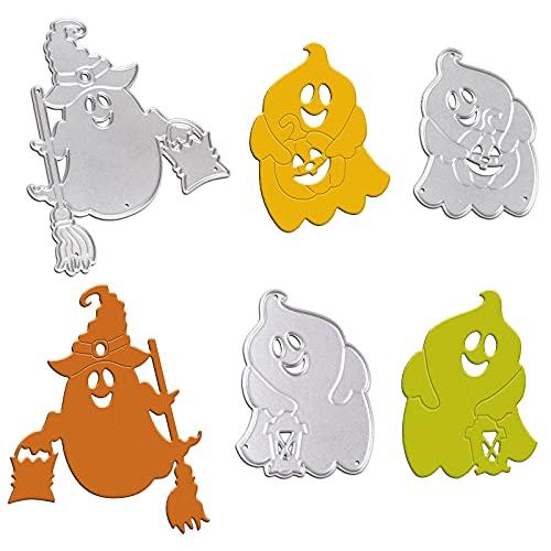OOTSR Troqueles Scrapbooking Halloween Troqueles Corte, Metal Plantillas Troquelado para Álbum Recortes DIY Manualidad Papel Hacer Tarjetas Cutting Dies(Fantasma)