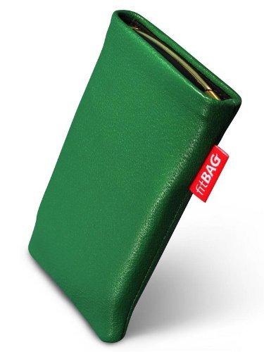 fitBAG Beat Smaragd Handytasche Tasche aus Echtleder Nappa mit Microfaserinnenfutter für ASUS M930