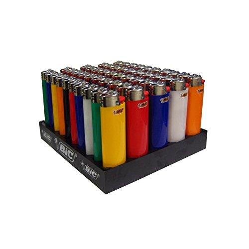 BIC Feuerzeug Reibrad Maxi, neutral, sortiert, 50er Packung, 1er Pack (1 x 50 Stück)