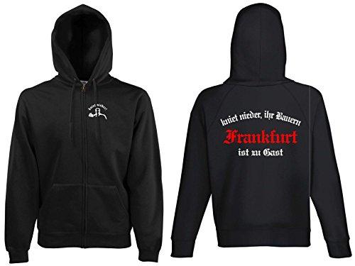 world-of-shirt Herren Kapuzenjacke Frankfurt Ultras kniet nieder