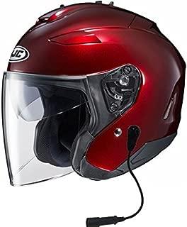 HJC IS-33 II Helmet With Headset GW 5 Pin Wine Large