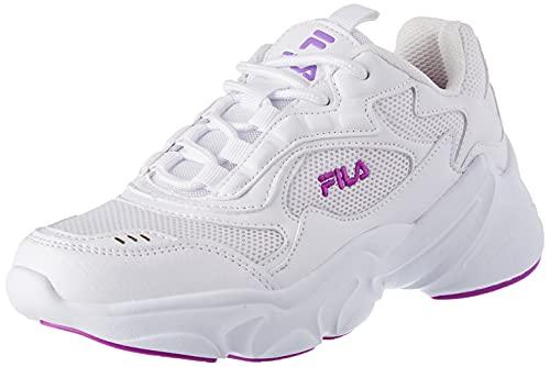 FILA Collene CB kids zapatilla Unisex niños, blanco (White/Purple Cactus Flower), 38 EU