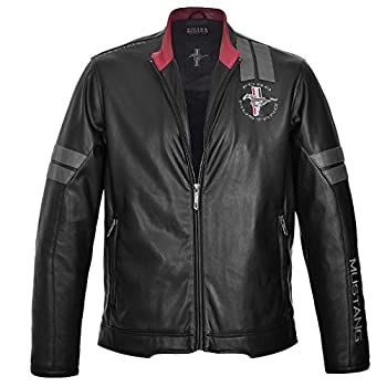 Race Mustang Jacket Black and Grey Details Color Original Inspired in the First Ford Mustang´s Racing Cars  Medium