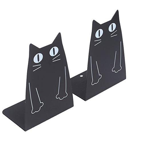 VORCOOL Cute Cartoon Katze rutschfeste Buchstützen Art Buchstütze dekorative Metall Buchstützen 1 Paar