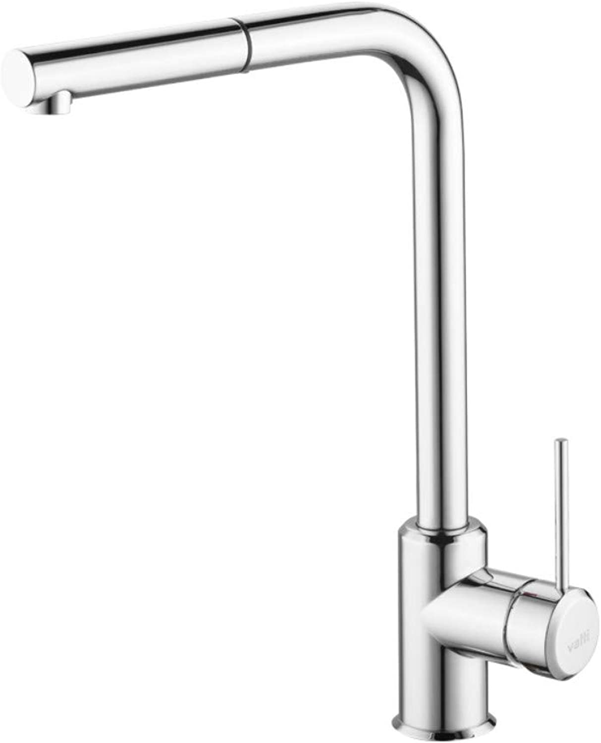 Faucet hot and cold sink faucet 360° free pull kitchen faucet seven-shaped shape Vientiane redation