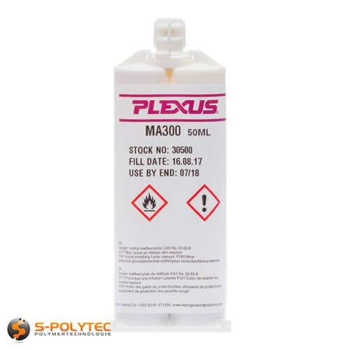 Preisvergleich Produktbild 2K Kleber Kunststoff Plexus MA 300 und MA 310 / 50ml / Industriekleber / Karosseriekleber / Klebstoff / Metall,  Alu,  Edelstahl,  Kunststoff,  PVC,  Fiberglas,  ABS,  Acrylglas,  Gummi (1x Kartusche MA 300)