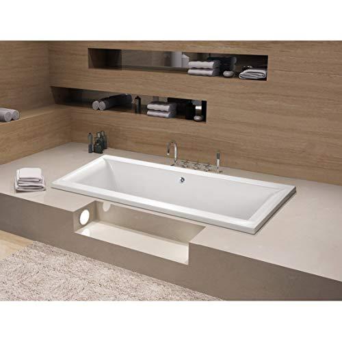 Kingston Brass 67 x 28 inches Drop-in Acrylic Bathtub - Center - White