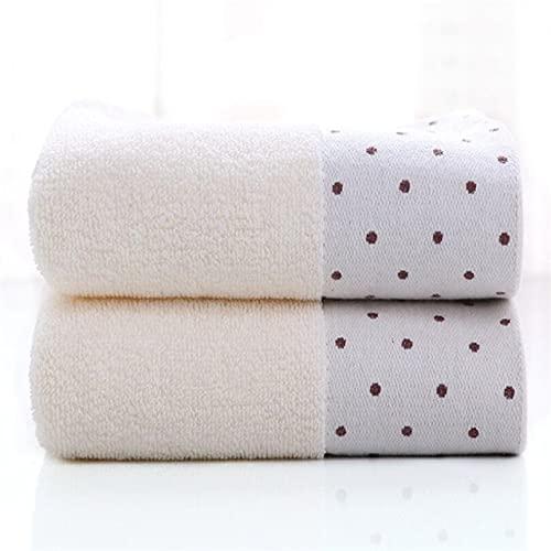 IAMZHL Toalla de Mano de algodón de absorción Fuerte de 2 Piezas, Toalla de baño para Adultos, Hombres, Mujeres, niños, Toallas de baño para la Cara, 24 Colores-a15-34X75CM
