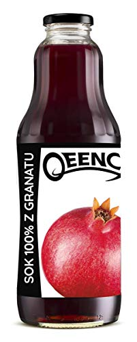QEENCY - Pomegranate Juice 100% 1 l non-concentrate juice, natural and vegan High vitamin C content 6 pack (6 x 1000 ml)