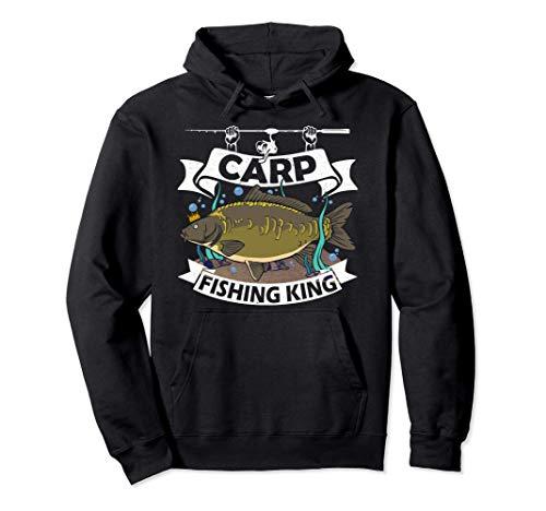 Cool Carp Fishing King Carpe Pêcheur Cadeau Peche Carpiste Sweat à Capuche