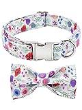 Bubblepup Dog Collar, Dog Collar with Bow, Bowtie Dog Collar, Adjustable Dog Collars for Small Medium Large Dogs