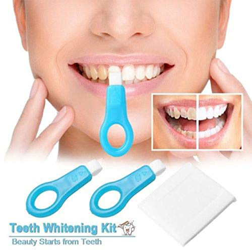 12pcs Pro Nano Teeth Whitening Kit Teeth Cleaning Whitener Brush Tooth Stains (12 pcs, White)
