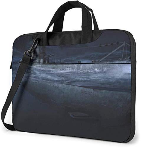13-15.6 Inch Laptop Shoulder Bag, Ship of Night Laptop Messenger Bag Notebook Protective Handbag Briefcase