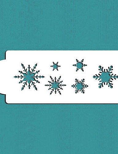 Snowflake stencil, torte e biscotti Natale celebrazione design stencil, fondant cake Decorating Tools, st-543