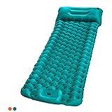 エアーマット エアマット キャンプマット 足踏み式 SGODDE ダブル シングル 枕が付き 連結可能 防災 車中泊マット テント キャンプ 来客用 アウトドアマット 収納袋付き