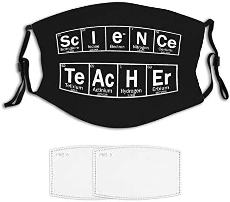 Science Teacher Face Mask 2 Filters Nose Wire Reusable Bandana Scarf Adjustable Ear Loops 7 product image