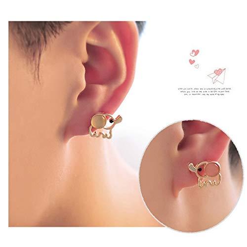 Burenqi schattige oorbellen olifant roze voor modesieraden dames oorbellen in diervorm schattig