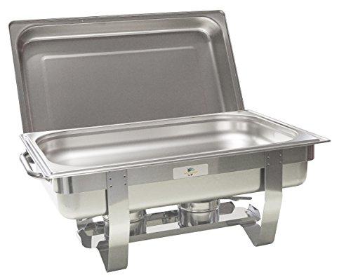 Gastro-Bedarf-Gutheil Chafing Dish Speisenwärmer inkl. 1/1 GN + 2 Brennpastenbehältern