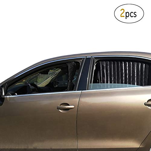 ZATOOTO Vorhäng fürs Auto - Sonnenschutz Auto Magnetisch zum Seitenfenster und Heckscheiben, UV-Strahlen Vermeiden und Fenster Abdunkeln, Universal, Schwarz (2 STK)