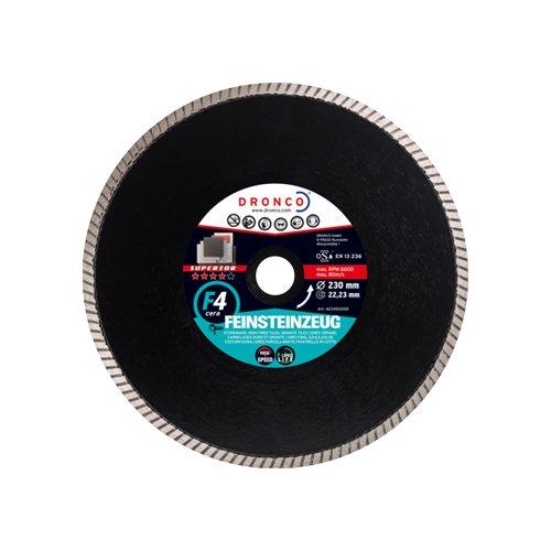 Dronco 4204517100 Diamanttrennscheibe 200 x 25,4 F4 cera , für Fliesen, Feinsteinzeug, Granit.