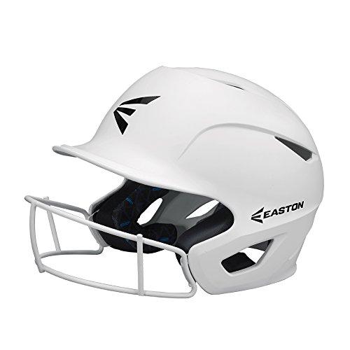 EASTON PROWESS Fastpitch Softball Batting Helmet with Mask | Medium / Large | Matte White | 2020 | Multi-Density Impact Absorption Foam | High Impact Resistant Lightweight Shell | BioDRI Liner
