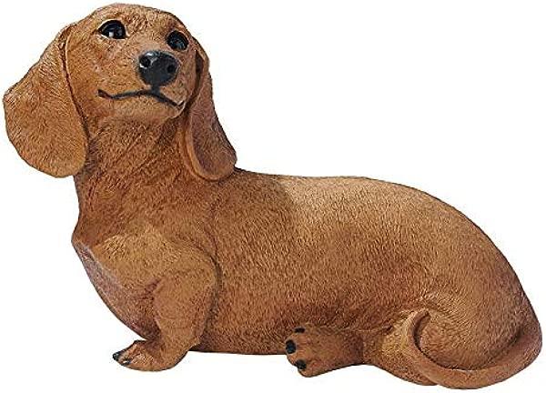 Design Toscano Brown Dachshund Puppy Dog Statue Multicolored