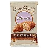 bauli croissant 5 cereali con zucchero di canna linea buonessere, confezione da 6 x 40g