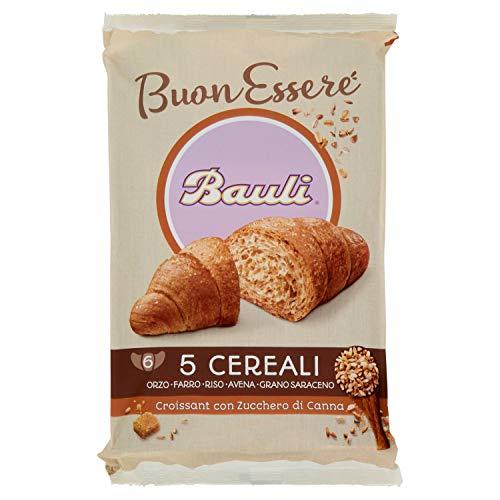 Bauli Croissant 5 Cereali con Zucchero di Canna, 6 x 40g