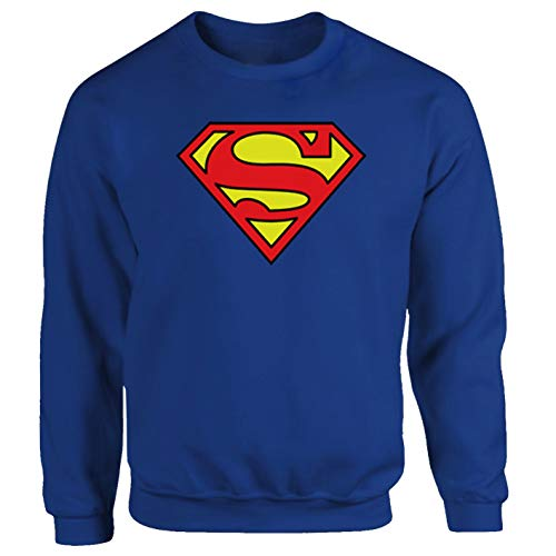 Superman Superhero Sci-fi Comic blauw trui sweatshirt