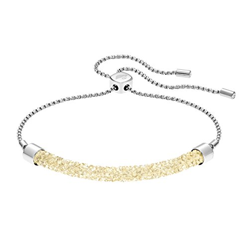 Swarovski Long Beach Crystal Golden Shadow Armband 5404439 (Länge: Verstellbar bis 24 cm)
