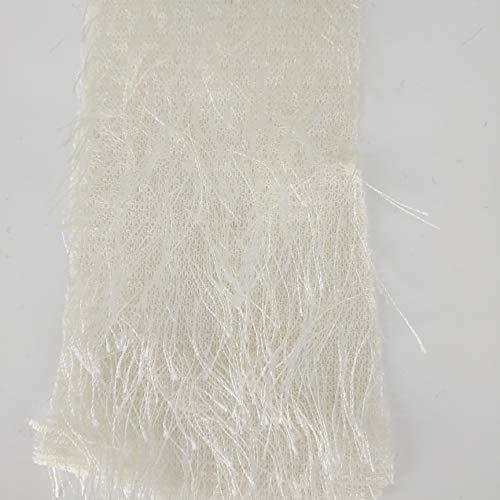 Unifarbener Plüsch-Fransenstoff zum Nähen, Bühnenkleidung, Tanzkostüm, Dekoration, Breite 157,6 cm, Meterware, Polyester, Weiß, 160 cm