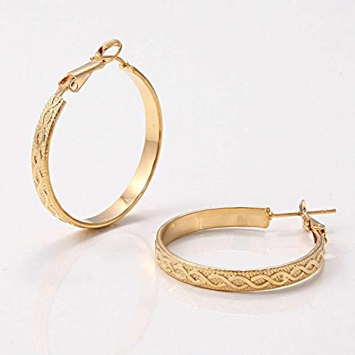 Pretty New 14K Yellow Gold Filled Double Infinity Round 1.25'' Hoop Earrings