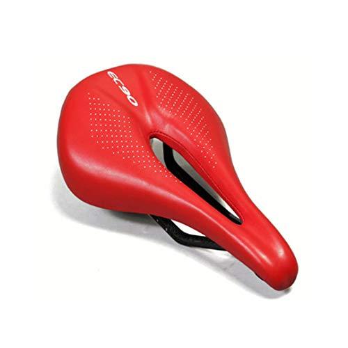 Sillín de Bicicleta de Fibra de Carbono Ec90 Asientos de Ciclismo de Carretera MTB Asientos de Ciclismo de Carretera Power-Pro de 143 mm de Ancho Red