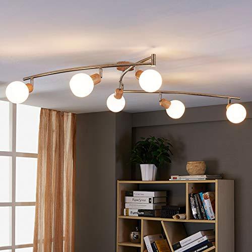 Lindby LED Deckenlampe 'Svenka' (Modern) aus Glas u.a. für Wohnzimmer & Esszimmer (6 flammig, E14, A+, inkl. Leuchtmittel) - Deckenleuchte, Wandleuchte, Strahler, Spot, Lampe, Wohnzimmerlampe