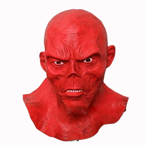 XINXIN REDSKULL Diavolo Fantasma Puntelli Testa Copertina Lattice Halloween Mascherata Mask