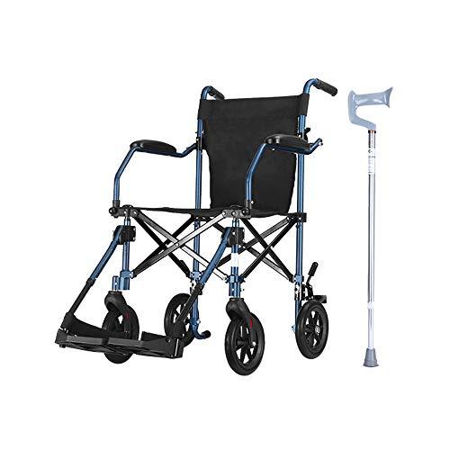 LSX - Silla de Ruedas Silla de Ruedas, aleación de Aluminio para Personas Mayores con discapacidad Manual para Silla de Ruedas, pequeño, Ligero, Plegable, portátil, de Viaje luz del Libro