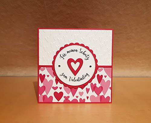 Glückwunschkarte, Karte zum Hochzeitstag, Valentinstag, Hochzeitstagskarte, Aquarell, Rosenherz, personalisiert, Wunschtext, eigener Text, handgemacht, Handarbeit