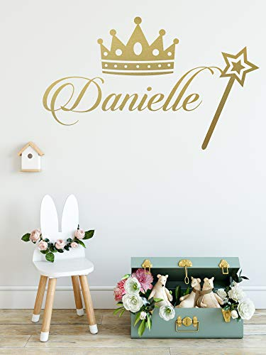 Princess Decor  Personalized Name Princess Wall Decal  Nursery Baby Girl Decoration  Mural Wall Decal Sticker For Home Interior Decoration Car Laptop M382 Wide 30quot x 17quot Height